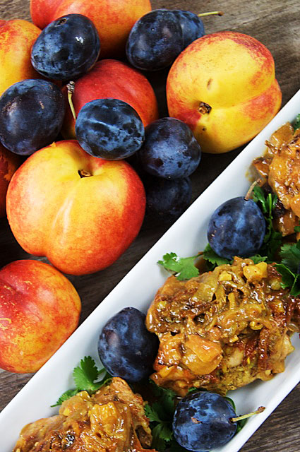 Nectarine & Plum Chicken - The Messy Baker