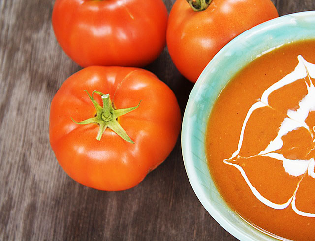 Roasted Tomato and Sage Soup - The Messy Baker