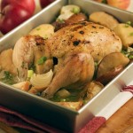 Apple roasted chicken