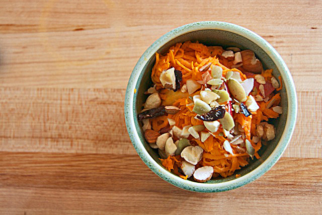 Raw Sweet Potato Salad - The Messy Baker