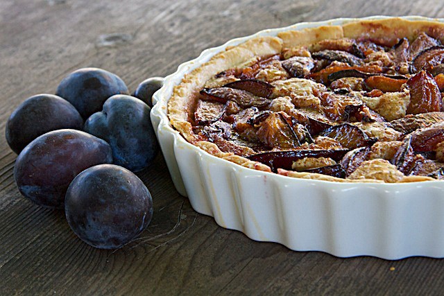 Plum Frangipane Tart by The Messy Baker