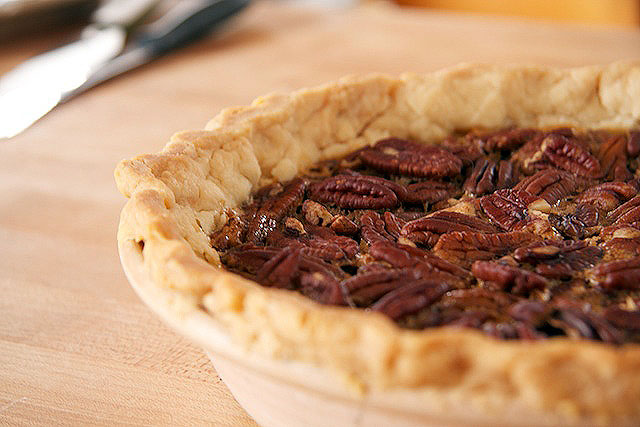 Forty Creek Whisky Pecan Pie by TheMessyBaker.com