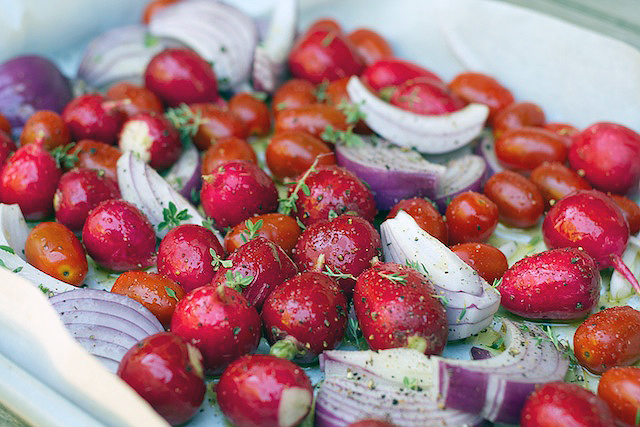 Roasted Reds - A radish recipe - TheMessyBaker.com