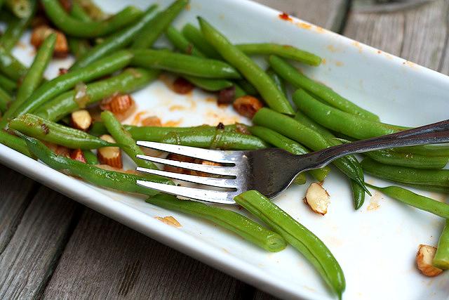 green beans -eaten   The Messy Baker