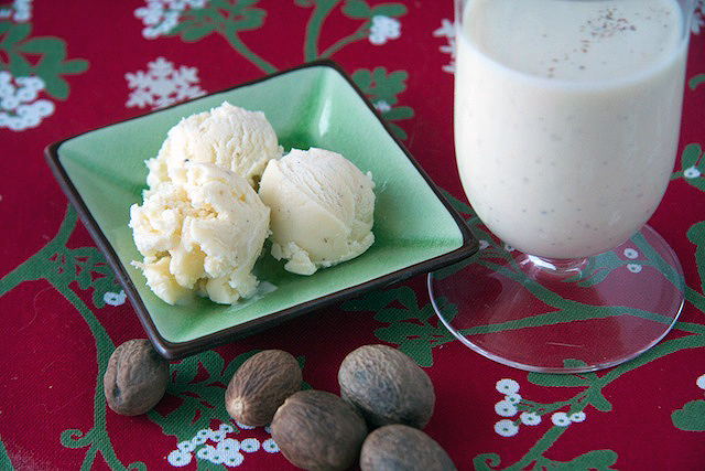 Homemade Eggnog and Eggnog Ice Cream