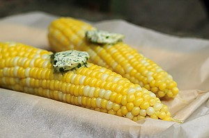 Corn with Chili Lime and Cilantro Butter-1-2