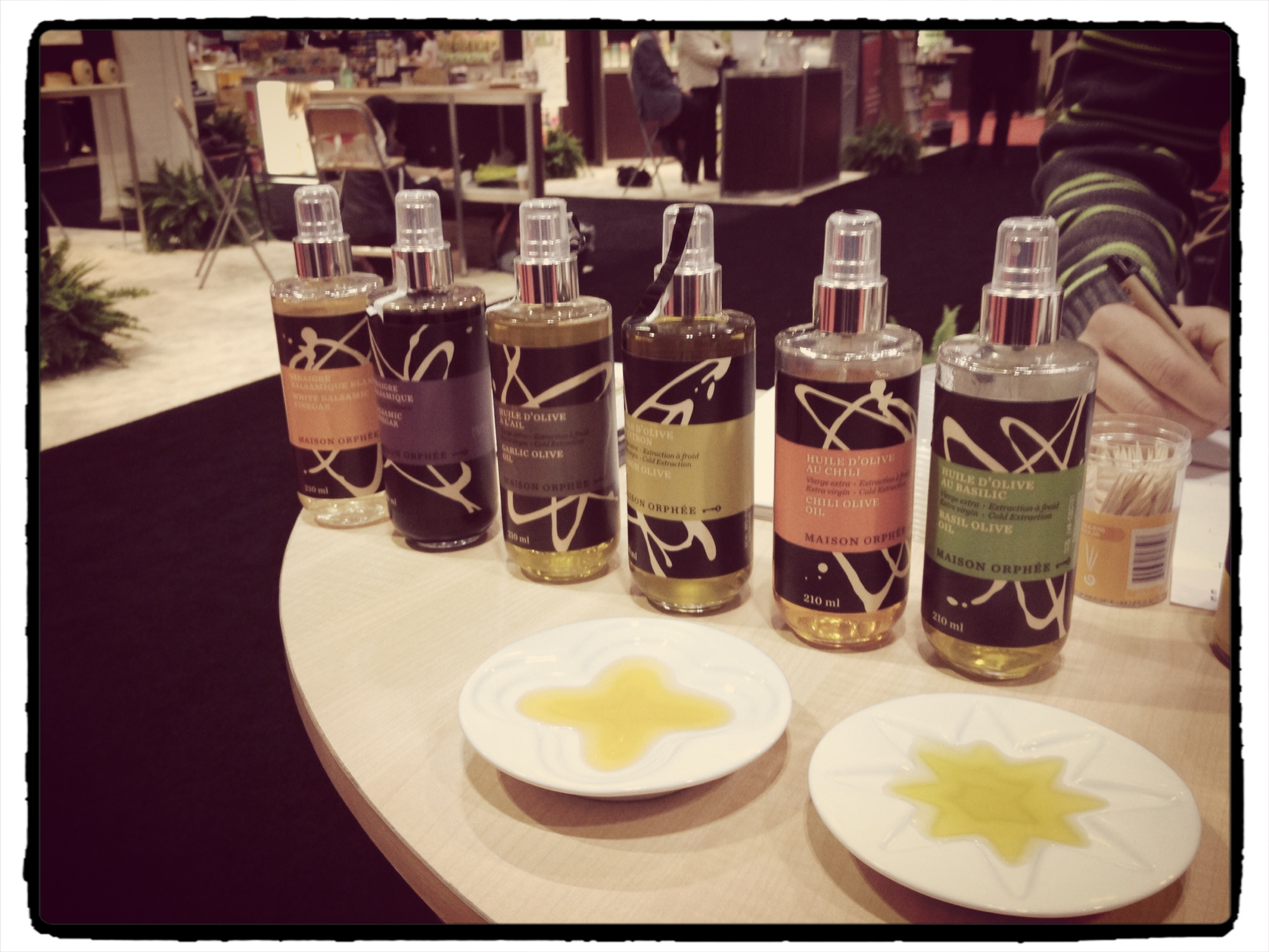 Maison Orphee flavoured oils with spritzer tops from SIAL Canada 2013 - The Messy Baker.com