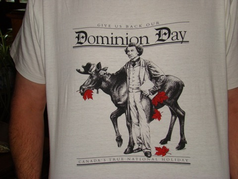 Globe and Mail Dominion Day t-shirt