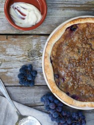 Concord Grape Pie - TheMessyBaker.com