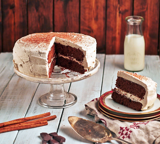 Egyptian Chocolate Cake from Death Warmed Over by Lisa Rogak
