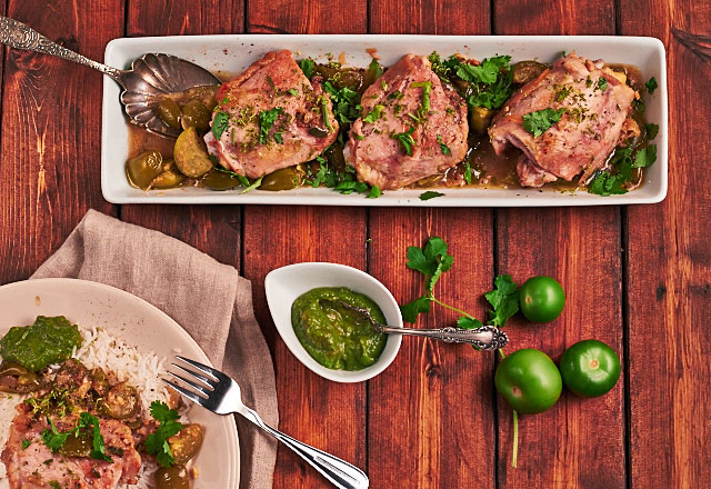 chicken-tomatillo