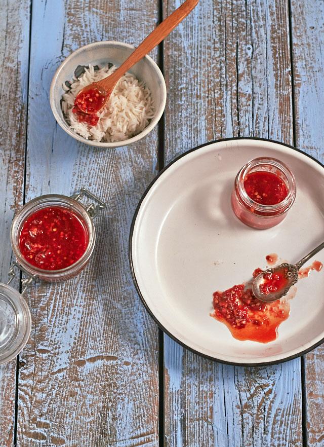 Tart-Sweet Chile-Ginger Sauce -- TheMessyBaker.com