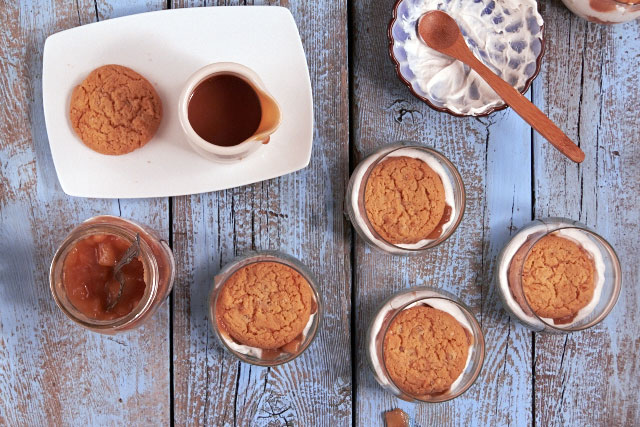 Caramel Apple Icebox Trifle | TheMessyBaker.com