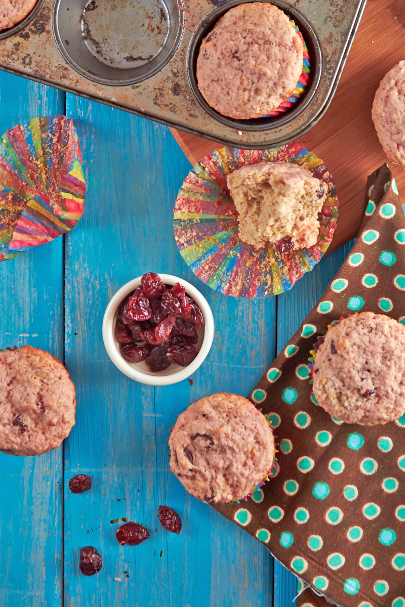 Blood Orange Cherry Muffins by The Messy Baker.