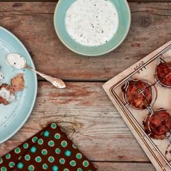 Italian Turkey Meatballs with Yogurt Sauce