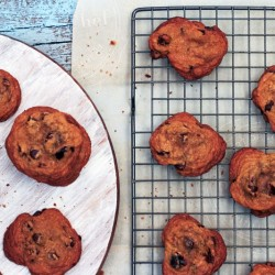 Dried Cherry & Chocolate Chip Cookies by The Messy Baker