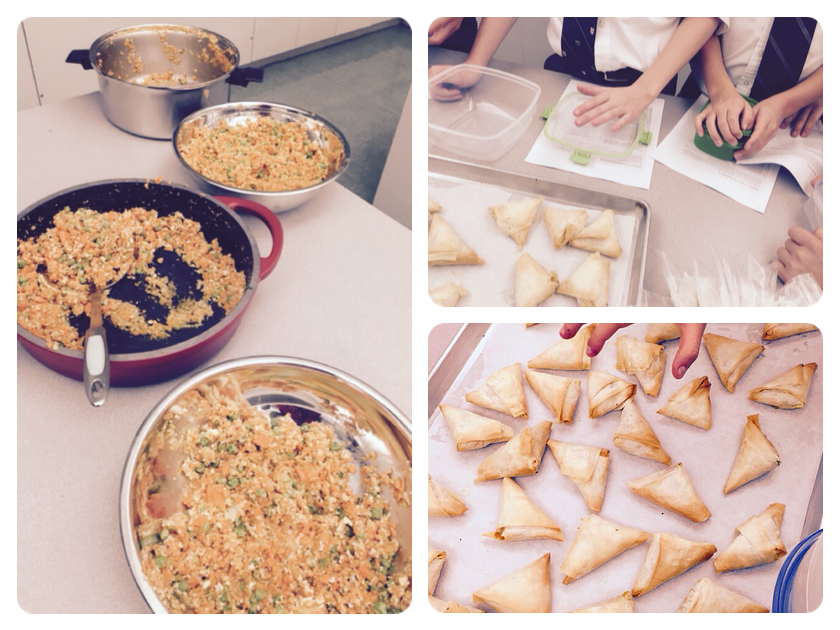 Making Samosas with Les Petits Chefs