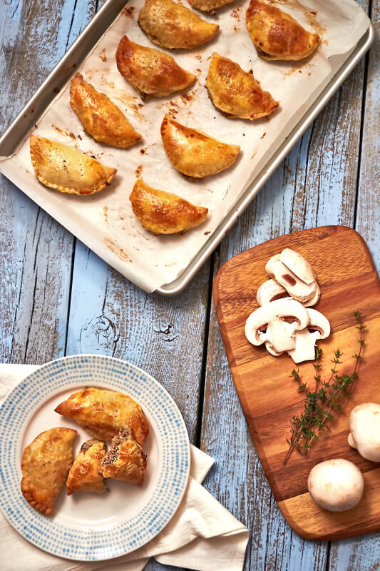Mushroom & Chevre Hand Pies by The Messy Baker