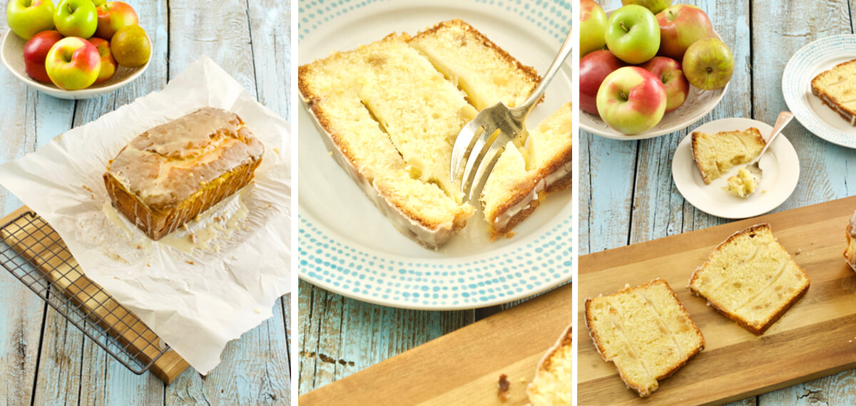 Layered Apple Pound Cake by The Messy Baker