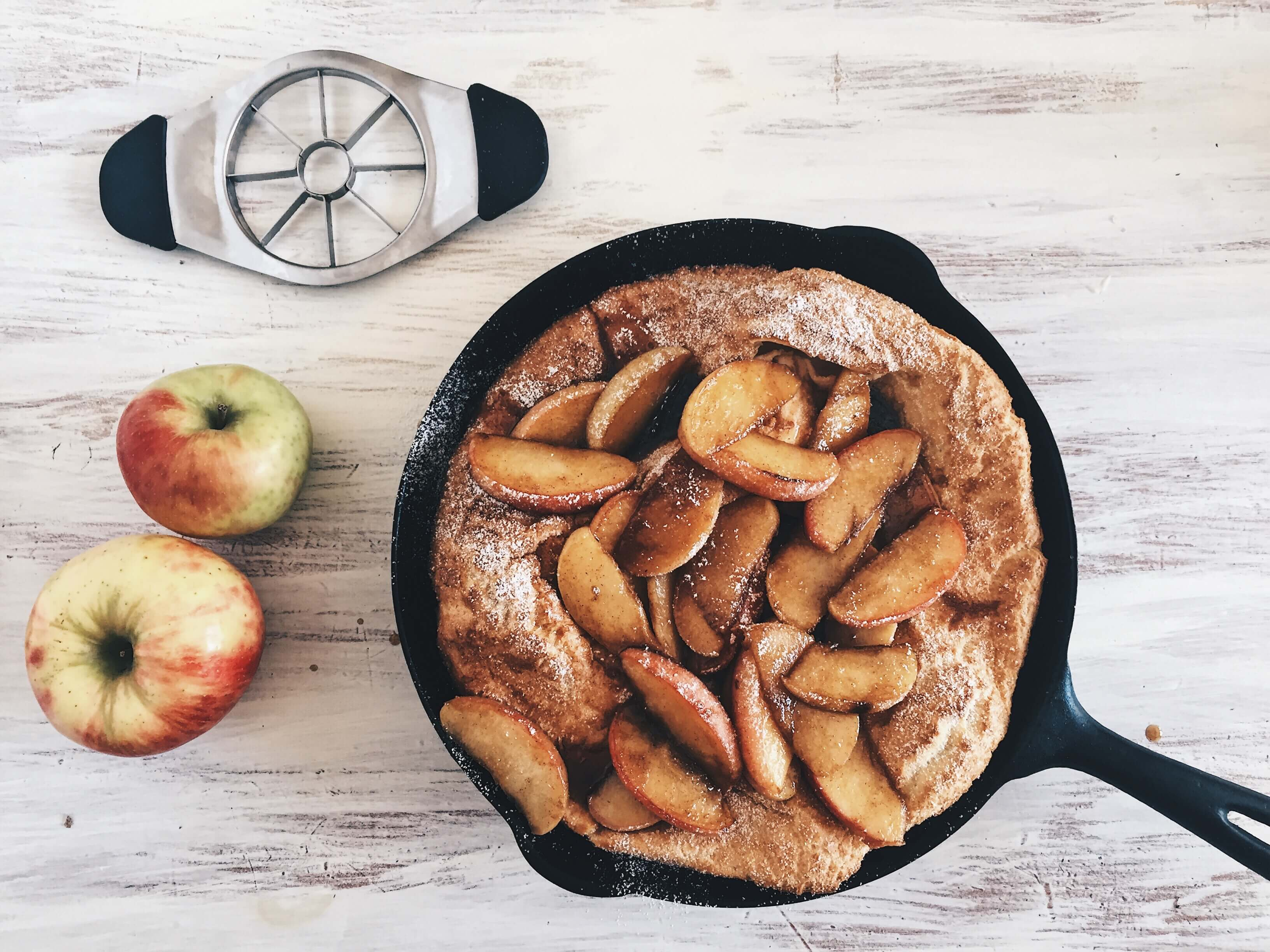 Caramelized Apple Dutch Baby by The Messy Baker