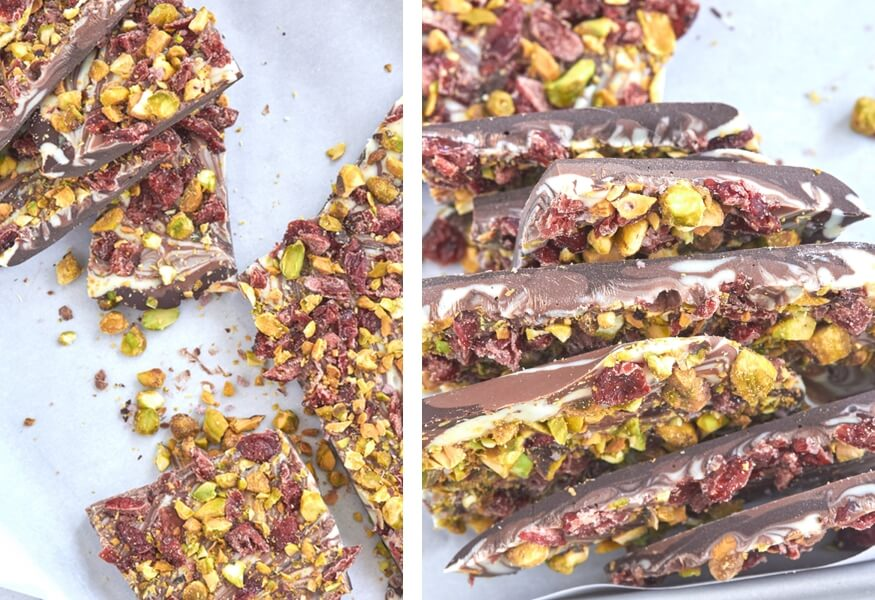 Triple Chocolate Bark by The Messy Baker