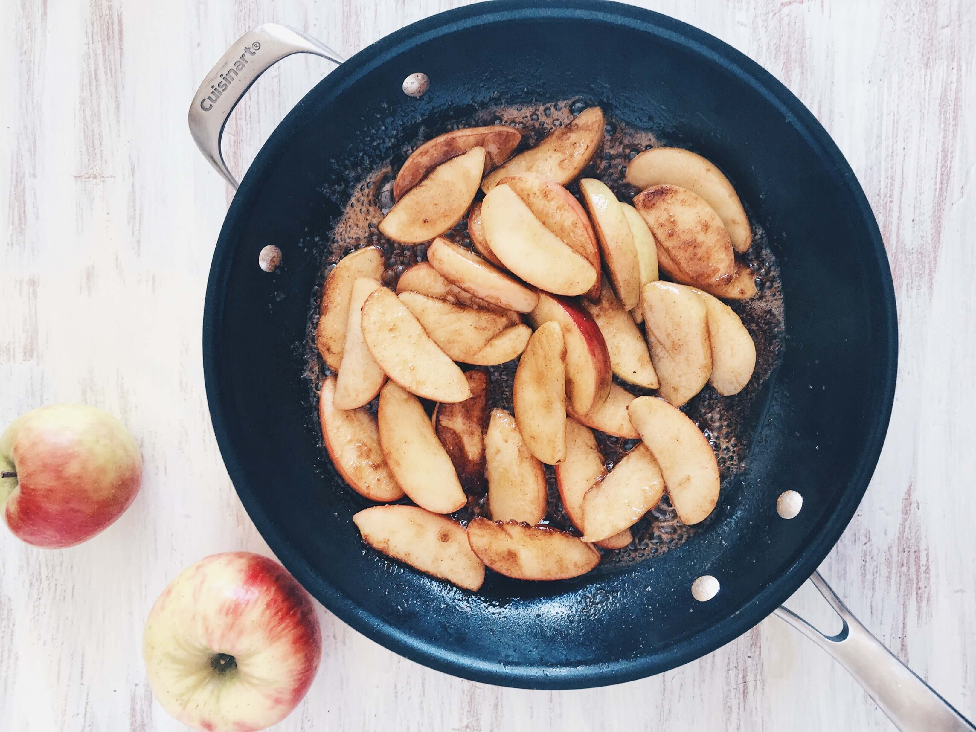 Caramelized Apples for Caramelized Apple Dutch Baby by The Messy Baker