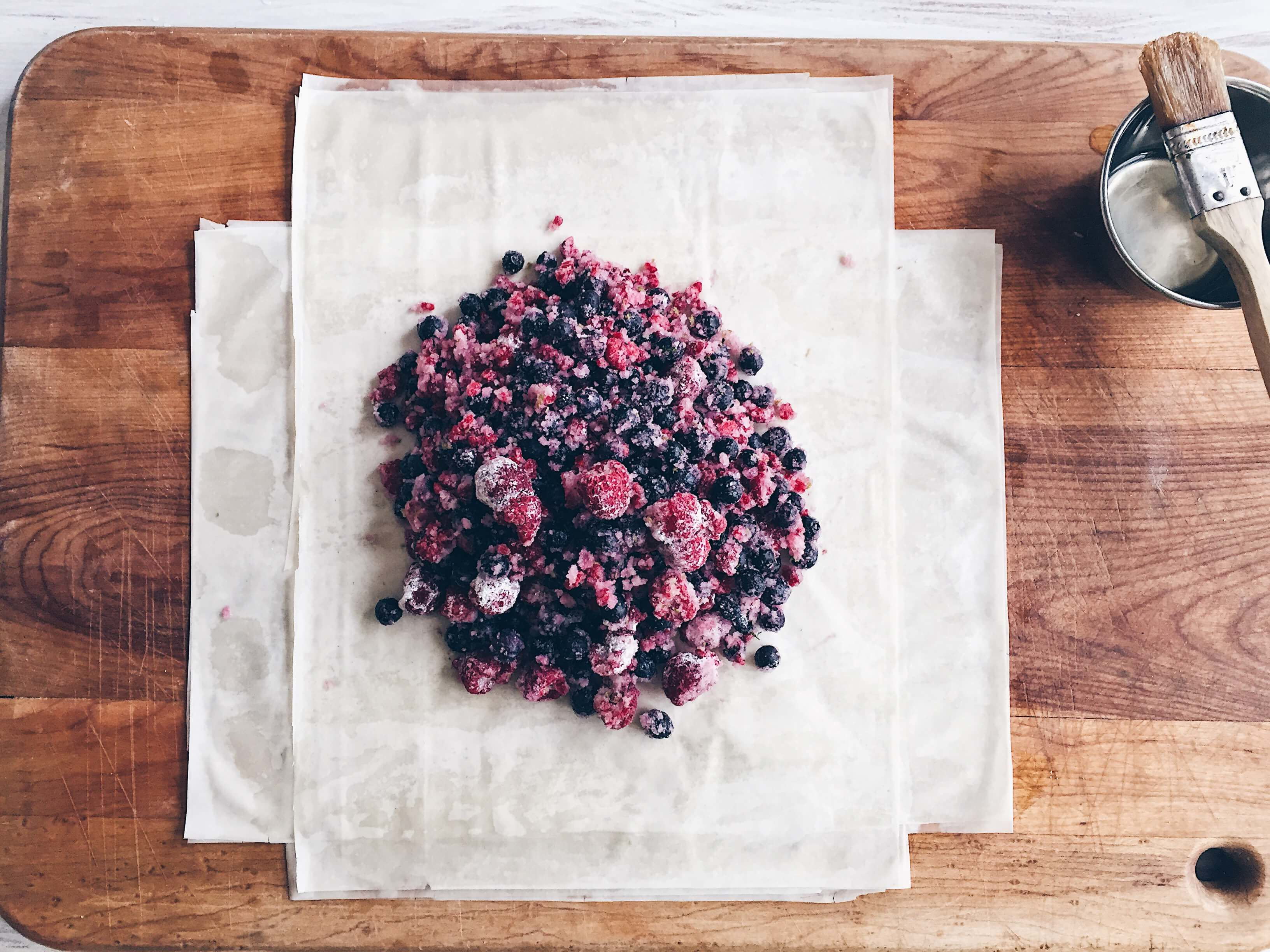 Mixed Berry Phyllo Galette by The Messy Baker