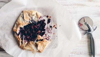 Mixed Berry Phyllo Galetter - first cut. By The Messy Baker