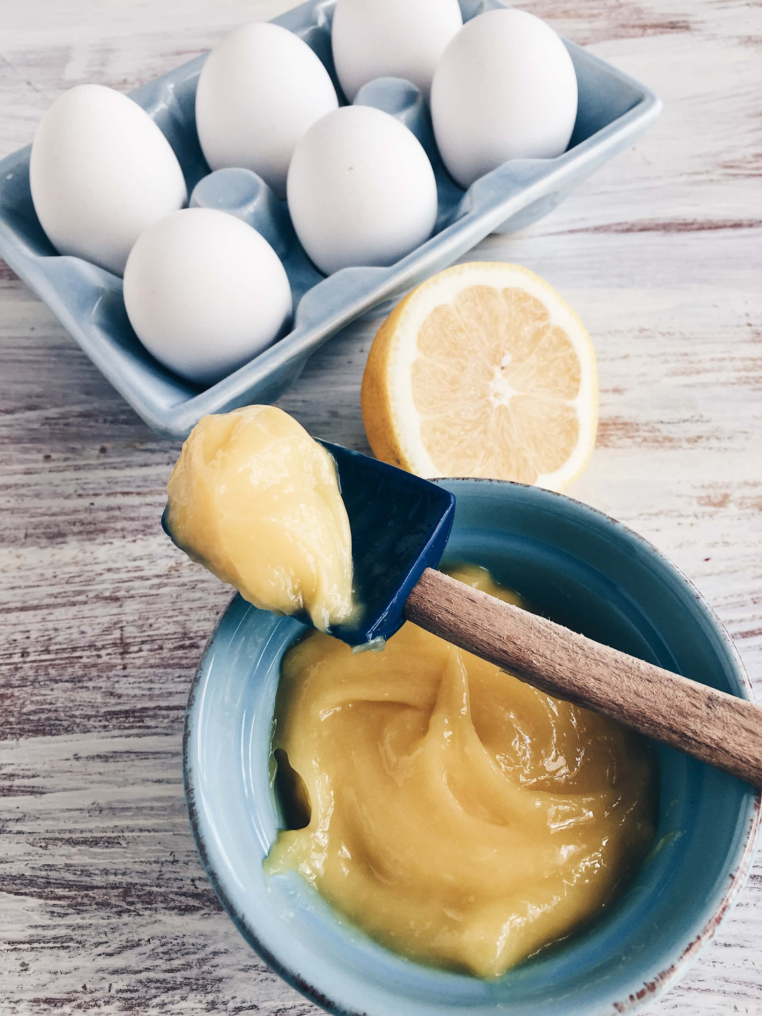 Fresh yolk-only lemon curd by The Messy Baker