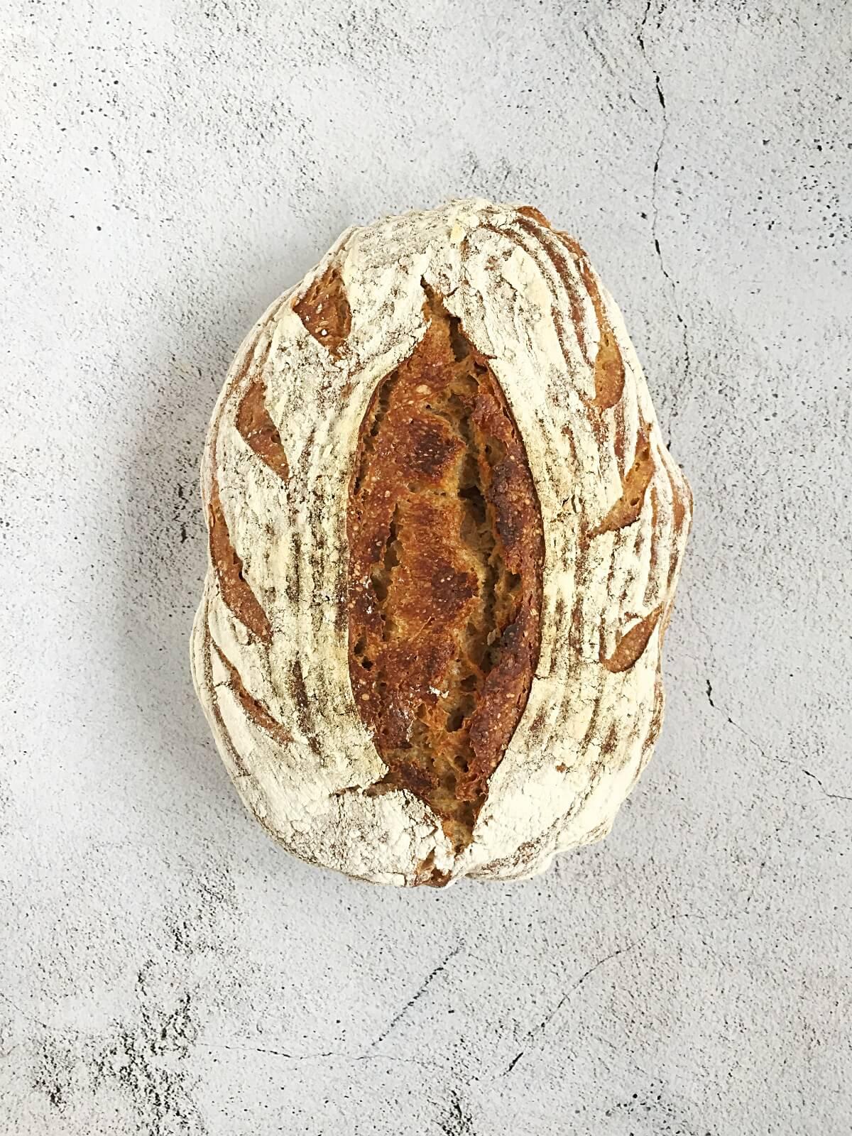 No Knead Semi Sourdough Rye Bread The Messy Baker